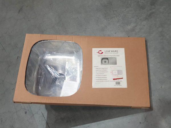 Image of sydenham stainless steel sink in packaging