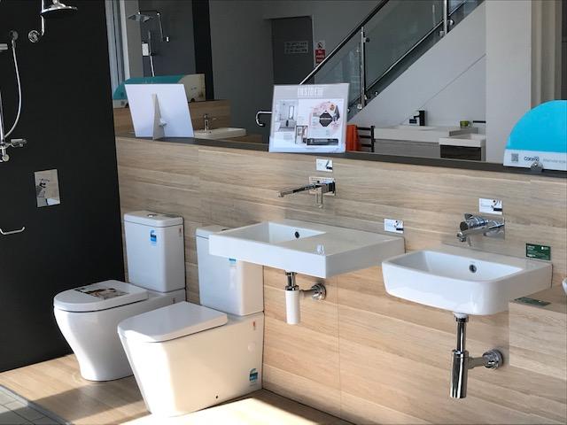 Bathroom display with Caroma basin