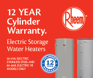 Rheem 12 year cylinder warranty