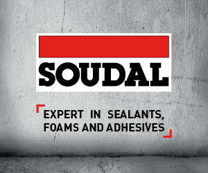Soudal Sealants logo on concrete background
