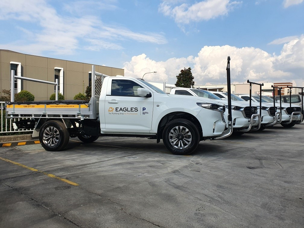Fleet of Eagles branded Mazda Utes